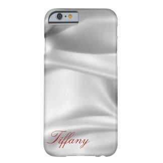 Caso de encargo del iPhone del satén de plata Funda Para iPhone 6 Barely There