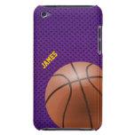 Caso de encargo del tacto de iPod del baloncesto p Barely There iPod Protectores