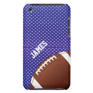 Caso de encargo del tacto de iPod del fútbol azul Case-Mate iPod Touch Protectores