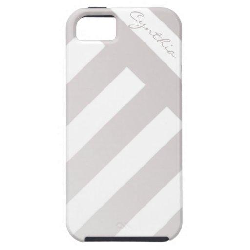 Caso de encargo rayado de color topo del iPhone 5 iPhone 5 Case-Mate Funda