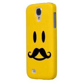 Caso de encargo sonriente de HTC del bigote feliz Funda Para Galaxy S4