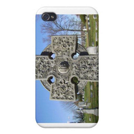 Caso de espec. de la cruz céltica iPhone 4 carcasa