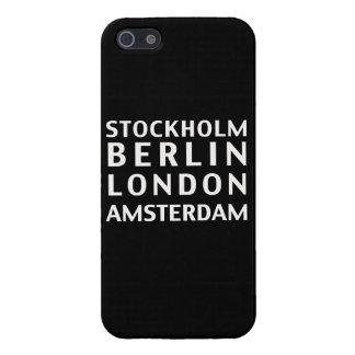 Caso de Estocolmo Berlín Londres Amsterdam iPhone 5 Carcasa