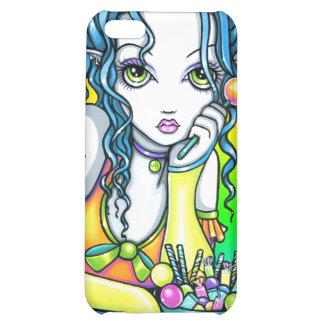 Caso de Fae IPhone 4 del arco iris del caramelo de