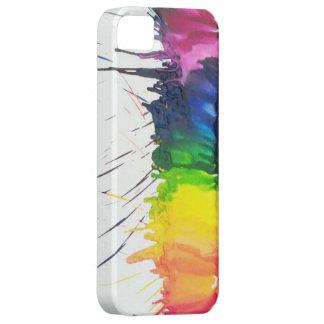 Caso de fusión del iPhone 5 del arte de los creyon iPhone 5 Case-Mate Cárcasas