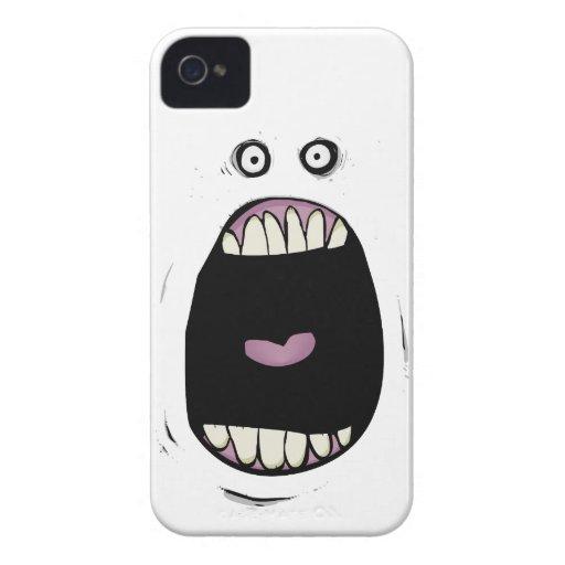 Caso de griterío del iPhone 4 del monstruo iPhone 4 Case-Mate Cárcasas