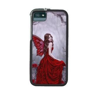 Caso de hadas 5/5S del iPhone del rosa de invierno