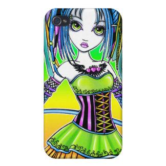 Caso de hadas de IPhone 4 del gótico cibernético d iPhone 4/4S Funda