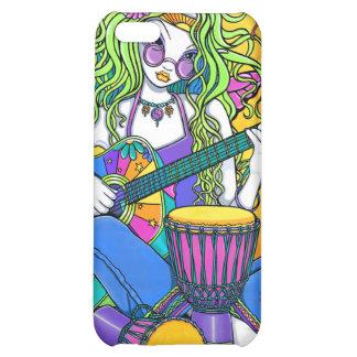 Caso de hadas de IPhone 4 del Hippie de la guitarr