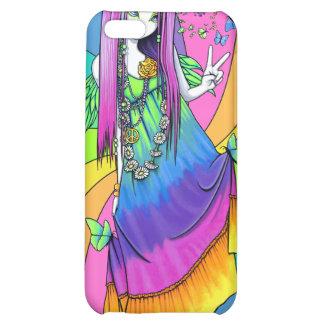 Caso de hadas de IPhone 4 del Hippie de la paz del
