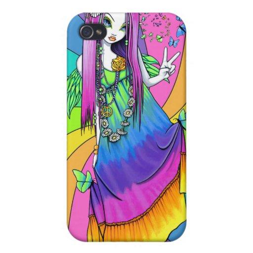 Caso de hadas de IPhone 4 del Hippie de la paz del iPhone 4/4S Carcasas