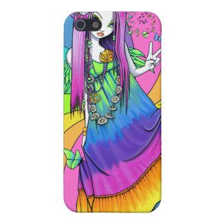Caso de hadas de IPhone 4 del Hippie de la paz del iPhone 5 Cárcasas