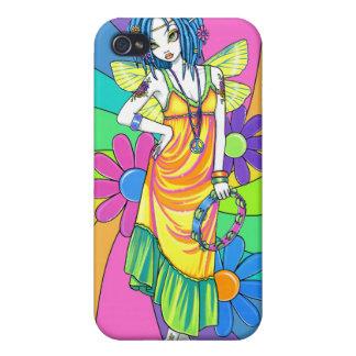 Caso de hadas de IPhone 4 del niño de flor del arc iPhone 4/4S Fundas