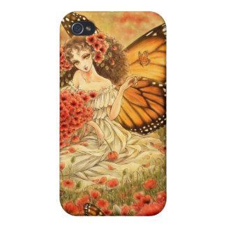 Caso de hadas del iPhone 4 de la mariposa de monar iPhone 4/4S Fundas