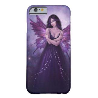 Caso de hadas del iPhone 6 de la mariposa púrpura Funda De iPhone 6 Barely There