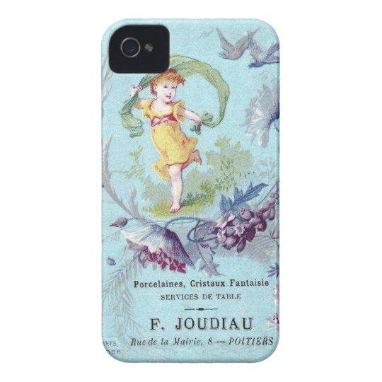 Caso de hadas del iPhone del chica francés Funda Para iPhone 4 De Case-Mate