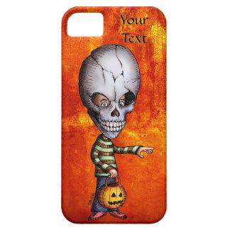 Caso de Halloween del niño del cráneo iPhone 5 Carcasa