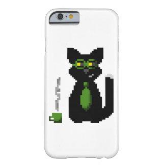 Caso de informática del gato del pixel del funda de iPhone 6 barely there