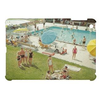 Caso de Ipad de la piscina de la foto retra de las