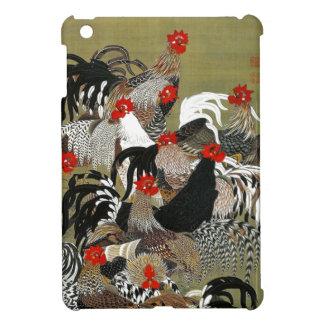Caso de Ipad del arte japonés de los gallos de los