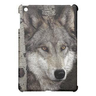 Caso de Ipad del lobo del dibujo de la tinta mini iPad Mini Cárcasas