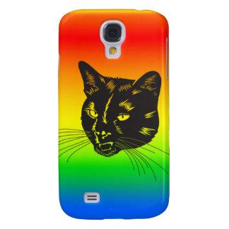caso de iPhone3g - gato del arco iris