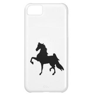 caso de iphone5 Barely There - silueta de Saddlebr Carcasa iPhone 5C