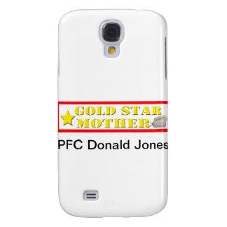 Caso de IPhone 3 de la madre de estrella de oro