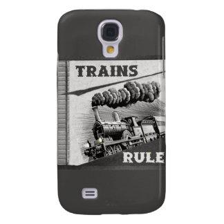 Caso de IPhone 3 de la regla de los trenes Funda Para Samsung Galaxy S4