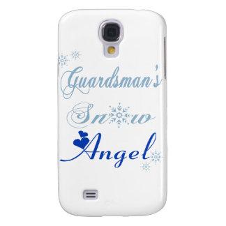 Caso de IPhone 3 del ángel de la nieve del soldado Funda Para Galaxy S4