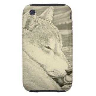 Caso de Iphone 3 del perro de Shiba Inu del caso Carcasa Though Para iPhone 3