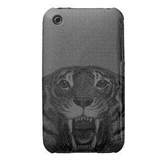 Caso de Iphone 3 del tigre del vintage iPhone 3 Funda