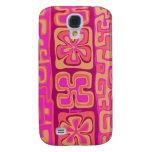 Caso de IPhone 3 - diseño floral hawaiano rosado
