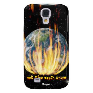 Caso de IPhone 3 - fije el mundo incendiado