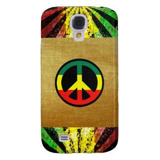 Caso de Iphone 3g de la paz del reggae Funda Para Samsung Galaxy S4