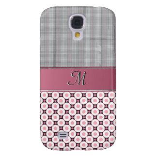 Caso de IPhone 3G - tela escocesa y círculos rosad Funda Para Galaxy S4