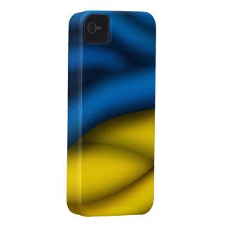 Caso de Iphone 4/4S de la bandera de Ucrania iPhone 4 Case-Mate Coberturas