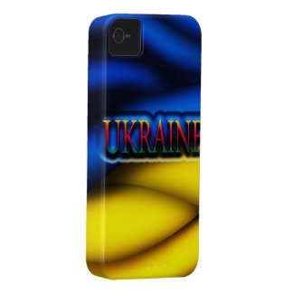Caso de Iphone 4/4S de la bandera de Ucrania iPhone 4 Case-Mate Carcasa