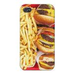 Caso de IPhone 4/4S de la hamburguesa iPhone 4/4S Funda