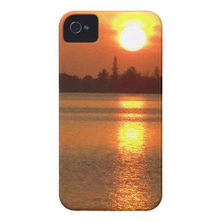 Caso de Iphone 4/4s de la puesta del sol 3 Funda Para iPhone 4