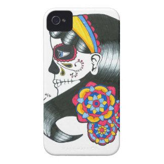 Caso de IPhone 4 4S del chica del cráneo del azúca Case-Mate iPhone 4 Carcasa