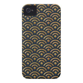 Caso de Iphone 4/4S del diseño de Seigaiha del azu Case-Mate iPhone 4 Cobertura