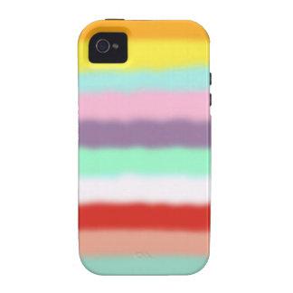 Caso de Iphone 4 - arco iris unido de los colores Carcasa Vibe iPhone 4