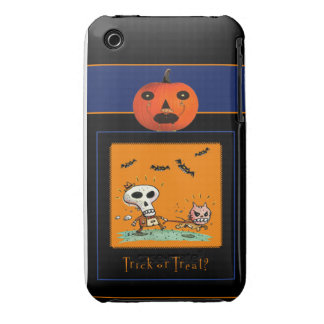 Caso de IPhone 4 Barely There Halloween iPhone 3 Case-Mate Coberturas
