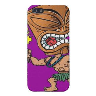 Caso de IPhone 4 - cabeza de baile de Tiki iPhone 5 Fundas