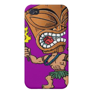 Caso de IPhone 4 - cabeza de baile de Tiki iPhone 4/4S Funda