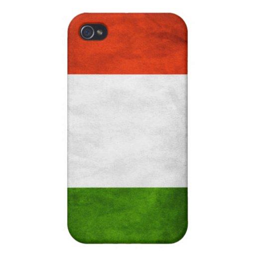 Caso de Iphone 4 de la bandera de Italia iPhone 4/4S Carcasas