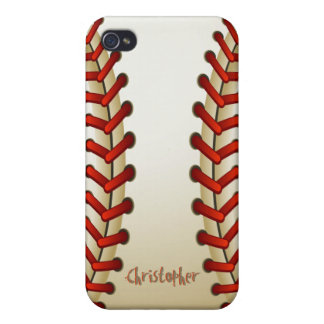 Caso de Iphone 4 de la bola del béisbol iPhone 4/4S Carcasa