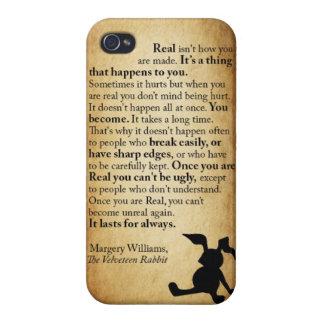 Caso de Iphone 4 de la cita del conejo de la pana iPhone 4/4S Carcasas