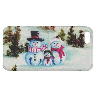 Caso de IPhone 4 de la familia del muñeco de nieve